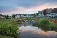 End a day  of family time at   Four Seasons Resort and Club Dallas at Las Colinas watching the sun set.(Joseph Haubert)