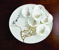 Birds and Branches set by Caskata. $250 at caskata.com.Caskata