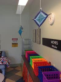 One of Townsel's students and her mother volunteered to yarn bomb the room.( Melody Townsel )