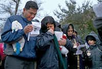 Sumeet and Pallavi Dhawan mourned the death of their 10-year-old son, Arnav, at a candlelight vigil outside their home in February. Pallavi was accused of killing the boy.Brad Loper  -  Staff Photographer