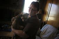 Aimee Early rescued Munque after the dog was surrendered to the shelter by Darrell Hammond.