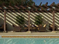 The inviting pool and lounging area at North Block Hotel in Yountville, Calif.