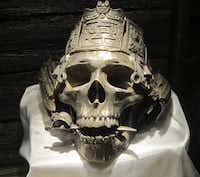 This silver skull exhibited at the Pirate & Treasure Museum was recovered in 1985 from the shipwreck of the Atocha,a Spanish ship that sank near the Florida Keys in 1622.
