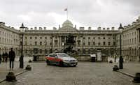 Somerset House, a Bond movie location in London.