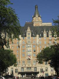 The castle-like Delta Bessborough is Saskatoon's entry in Canada's grand tradition of luxury hotels built by the nation's railways.