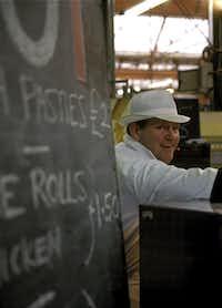 A food vendor at Borough Market.