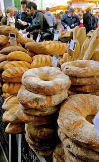 Artisan bread at Borough Market.