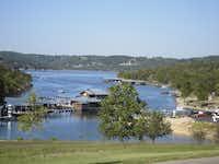 Big Cedar Lodge overlooks Table Rock Lake, a prime bass fishing spot.