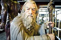 A life-size Gandalf figure at the Weta Cave.