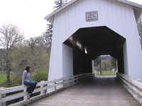 The Coyote Creek Bridge west of Eugene, Ore., is a good place for quiet contemplation.
