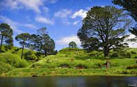 The bucolic Hobbiton Movie Set.