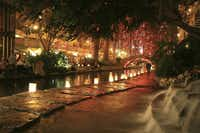 Six thousand luminarias bring a special glow to the River Walk in San Antonio on December weekends