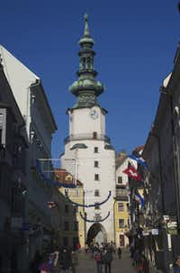 Slovakia's Bratislava spent three centuries as the capital of Hungary, and its medieval town center is entered through the spectacular St. Michael's gate.