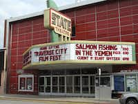 State Theatre on Front Street is headquarters for the summer Traverse City Film Festival, which was founded by Michael Moore in 2004.