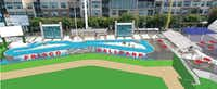 These schematic designs show proposed improvements behind right field at Dr Pepper Ballpark. (Courtesy Magill Associates)