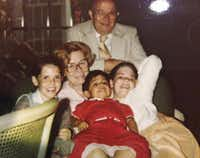 Marjorie Nugent  and Rod Nugent Sr. enjoyed Christmas with their grandchildren in 1981.(Nugent family - Courtesy)