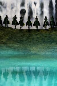 Horse riders perform during a preview of Cavalia's production Odysseo in Frisco, Texas on Jan. 27, 2015.(Rose Baca - The Dallas Morning News)