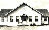 A 1930s photo shows Pleasant View Baptist's simple frame structure, built in the 1920s to replace an earlier building destroyed by fire. The congregation was founded in 1847.