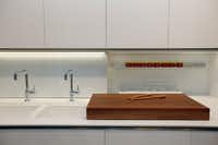 The sink and cabinets in the Satyrium Kitchen collection at Ornare
