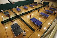 Pingpong tables line the basketball courts weekly at the Tom Muehlenbeck Recreation Center in Plano.