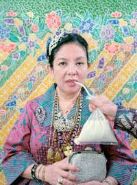 "Leonard Suryajaya's ""Mom With All of the Jewelries She Bought Herself With Her Own Money"" is part of the ""Dispossessed"" show during PhotoSummer 2016 in New Mexico.The exhibition, presented by CENTER and the Santa Fe University of Art & Design, opens June 17 at the university."