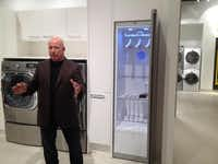 Yes, washing machines have come to NorthPark. Pirch CEO and co-founder Jeffery Sears describes the retailer's version of a laundry room. That closet is a substitute for dry cleaning.( Maria Halkias  -  Staff )