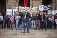 Land Commissioner Jerry Patterson spoke at January's Guns Across America Rally at the Capitol in Austin.