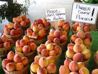 Small flat peaches are often called doughnuts because of their appearance and flavor.