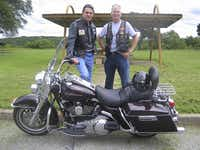 Harley lover Perry, who's working to kick-start his presidential hopes, gets together every May 10 for a ride with Jay Kimbrough, his one-time chief of staff. It's the anniversary of the day Kimbrough was shot in Vietnam.