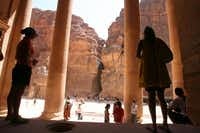 Jordanian officials report that tourism at the ancient Nabataean city of Petra has increased markedly since Petra was named one of the new Seven Wonders of the World in 2007.Salah Malkawi  -  Getty Images