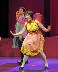 Emily Lockhart plays Pinkalicous, who is suffering from pinkitis after eating too many pink cupcakes.