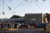 Classes went on as scheduled Thursday at L.G. Pinkston High School after the threats. (Nathan Hunsinger The Dallas Morning News)
