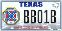 The design of the proposed Sons of Confederate Veterans license plate includes the rebel flag.