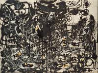"""The Dallas Museum of Art will be the U.S. venue for Jackson Pollock's works known as Black Pourings, including """"Yellow Islands,"""" 1952.The Pollock-Krasner Foundation"""