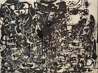 "The Dallas Museum of Art will be the U.S. venue for Jackson Pollock's works known as Black Pourings, including ""Yellow Islands,"" 1952.The Pollock-Krasner Foundation"