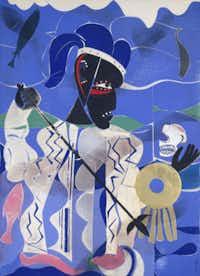 Romare Bearden (1911-1988) Poseidon, The Sea God, 1977