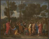 Nicolas Poussin, French (1594–1665)  The Sacrament of Ordination (Christ Presenting the Keys to Saint Peter), c. 1636–40  Oil on canvas; 373⁄4 x 477⁄8 in. (95.9 x 121.6 cm)  Acquired in 2011