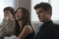 """Left to right, Jesse Eisenberg, Brenda Song and Andrew Garfield are shown in a scene from """"The Social Network."""""""