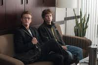 """Justin Timberlake, left, and Jesse Eisenberg are shown in a scene from """"The Social Network."""""""