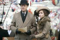 """Colin Firth, left, and Helena Bonham Carter are shown in a scene from, """"The King's Speech."""""""