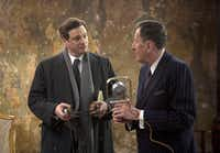 """Collin Firth, left, and Geoffrey Rush are shown in a scene from, """"The King's Speech."""""""