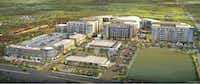 The first phase of Preston Hollow Village on Walnut Hill Lane will include office and retail space.