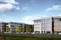 Matthews Southwest plans several office buildings in its Proper business park on U.S. 380. (Matthews Southwest)