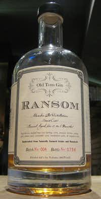 Ransom's Old Tom Gin