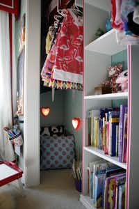A reading nook in Sloan's room.