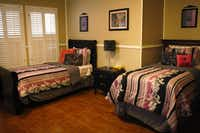 Each room at Restored Hope has its own theme, including the Beverly Hills room. The yearlong program can accommodate 15 women.