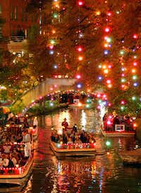 The River Walk becomes even more festive during the Christmas season.