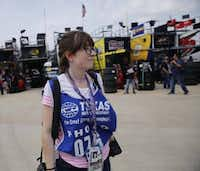Here I am at the NASCAR Xfinity Series practice at the Texas Motor Speedway. I don't have a photo of myself with a big lens, so this one of me seemingly thinking real hard while holding a couple of cameras will have to do! (Tom Fox/The Dallas Morning News)