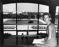 Ruth Carter Stevenson ca. 1961 at the Amon Carter Museum.