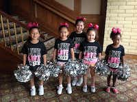 Cheerleaders performed at the Soup, Soap and Hope Luncheon at Las Colinas Country Club.Couresty
